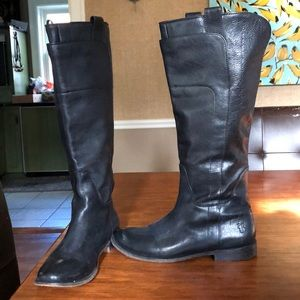 Tall black Frye boots